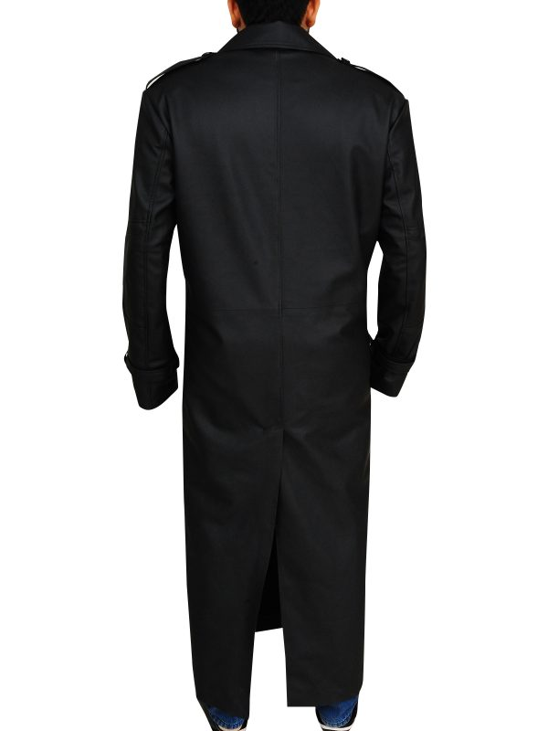 black men trench coat, black trench coat men,
