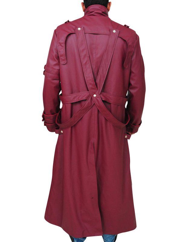 cosplay costume trigun series, trigun maroon trench coat,