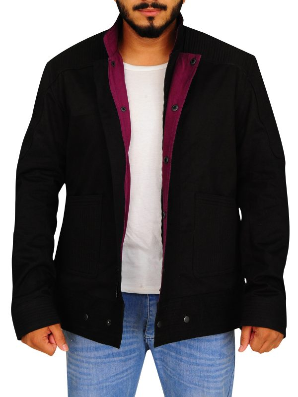 stylish black cotton jacket, cotton jacket for men,