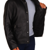 stephen amell leather jacket, stephen amell black jacket,