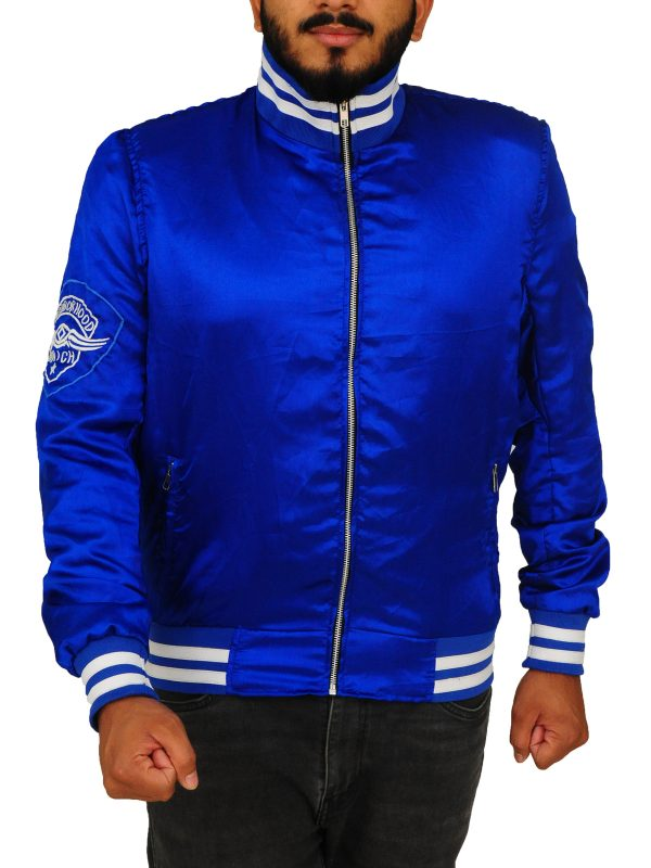the watch movie blue jacket, the watch movie blue satin jacket,