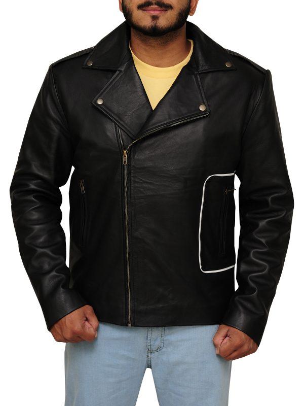 men jacket, black brando jacket