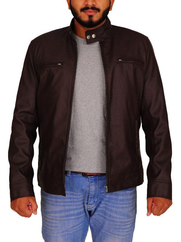 brown leather jacket for men, men dashing leather jacket,