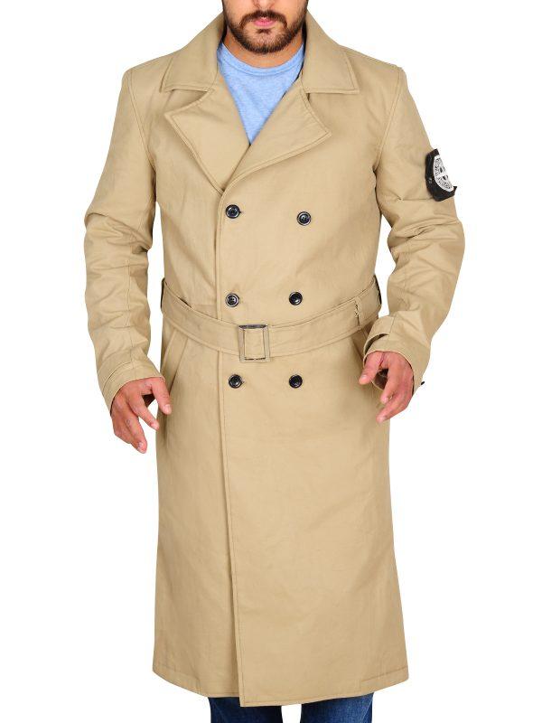 elegant men brown long coat, long coat for men,