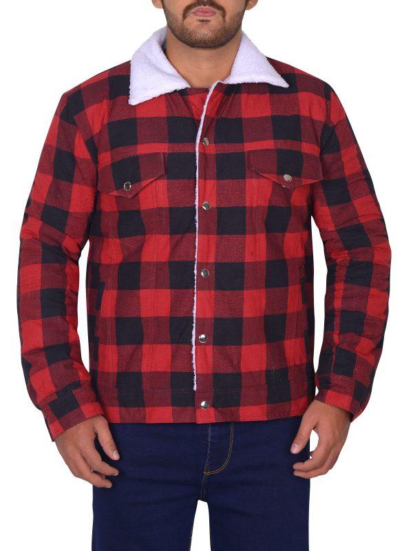 riverdale cotton jacket, red men cotton jacket,