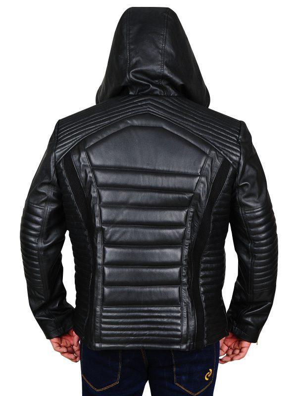 men black leather jacket, men trendy black jacket,