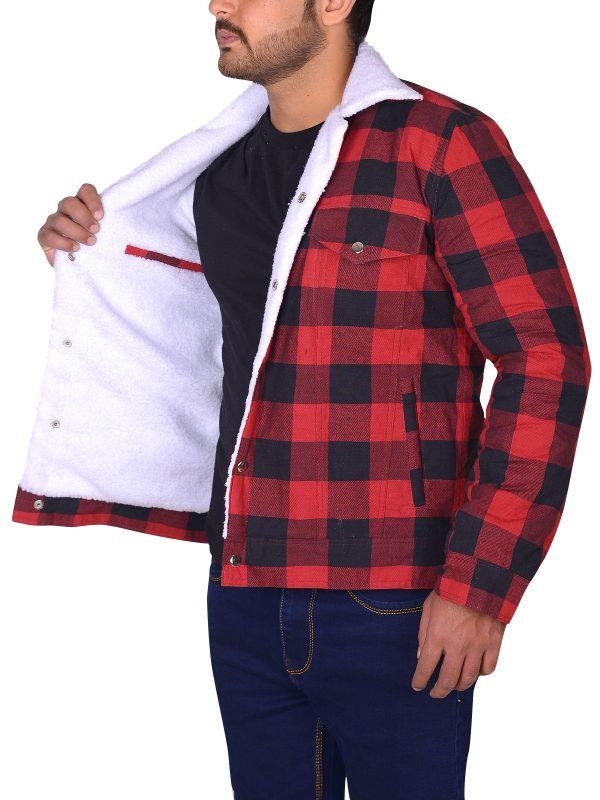 red jacket for men, men red cotton jacket,