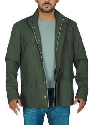 olive green jacket for men, cotton jacket for men,