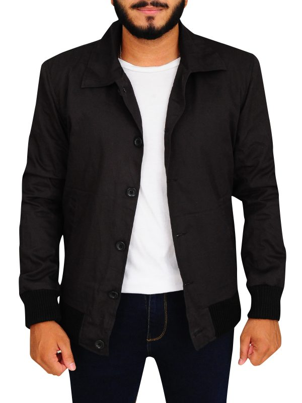 ryan reynolds black jacket, ryan reynolds black cotton jacket,