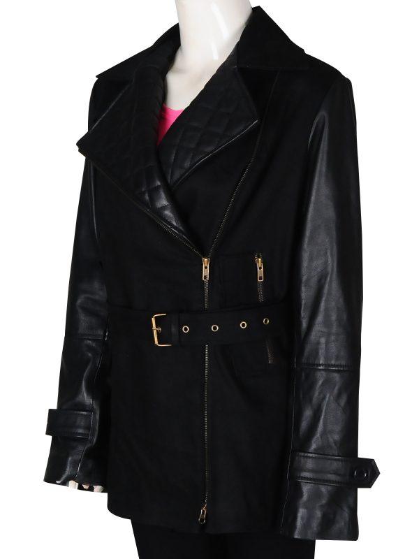 black leather jacket for women, girl black leather jacket,