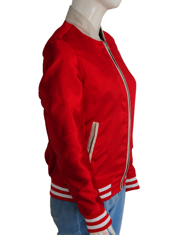 women red satin jacket, trending jacket for women,