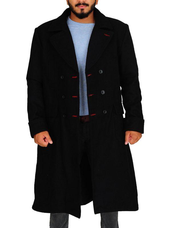 sherlock holmes black coat, sherlock holmes celebrity coat,