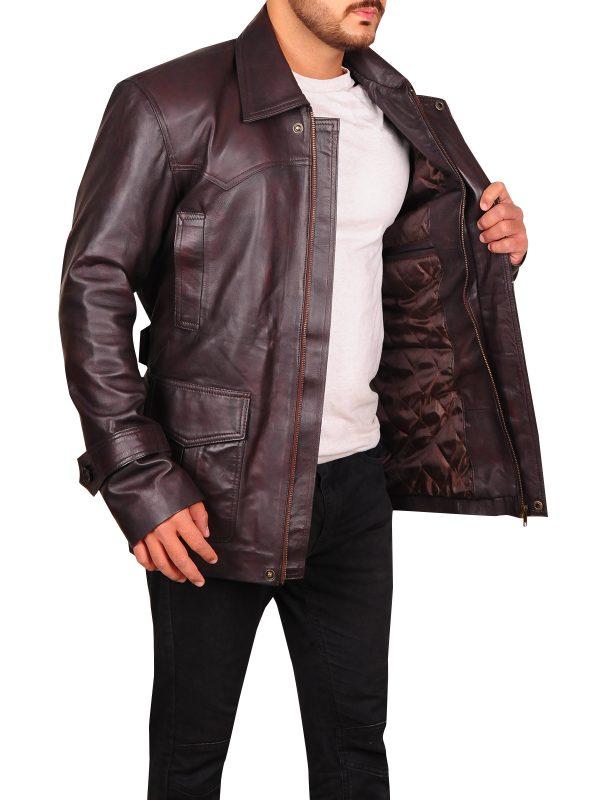 men brown jacket, leather jacket for men,