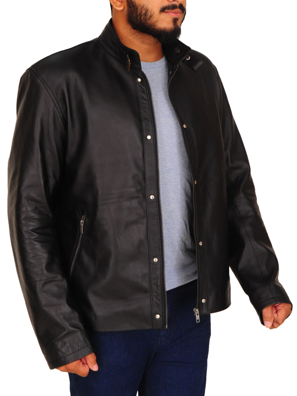 black men leather jacket, black leather jacket for men,