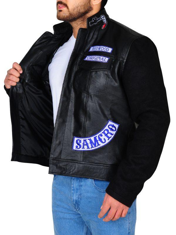 men black leather jacket, men leather jacket in black,