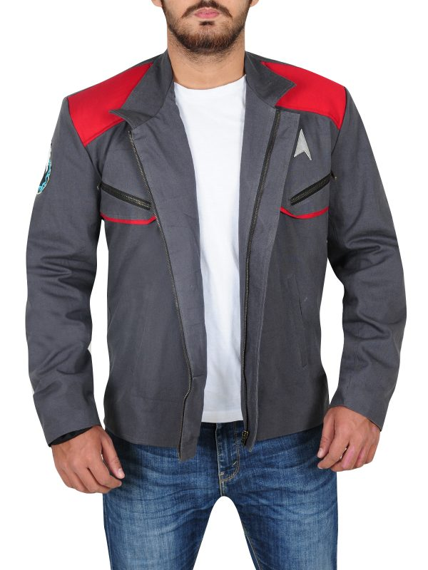 star trek movie jacket, star trek men grey jacket,