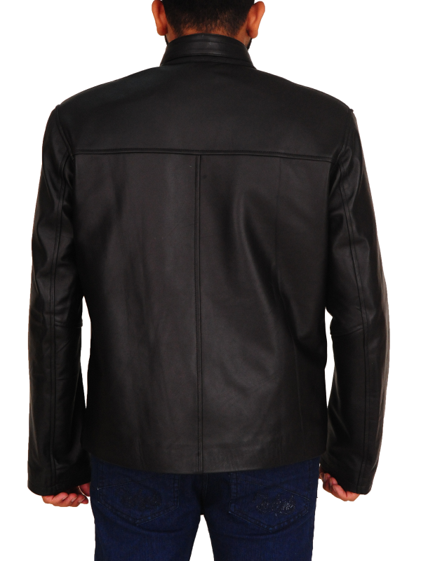 slim fit leather jacket for men, slim fit men leather jacket,