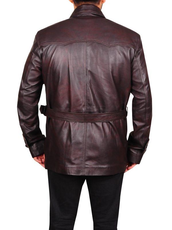 vintage brown leather jacket, men vitage brown leather jacket,