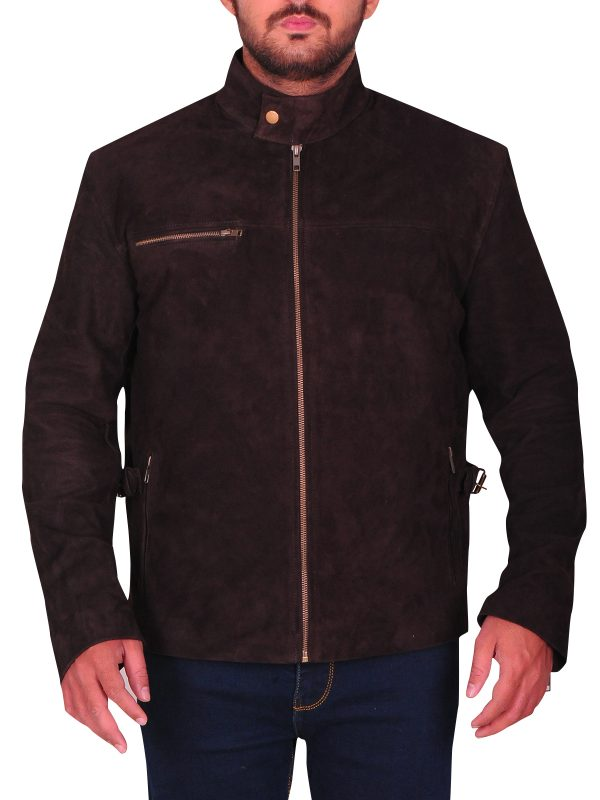trending tom cruise suede leather jacket,
