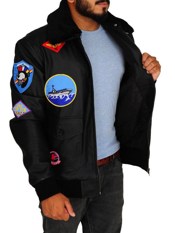 top gun movie leather jacket, top gun tom cruise leather jacket,