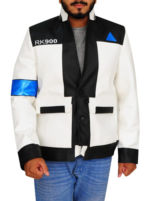 detriot game leather jacket, white game leather jacket,