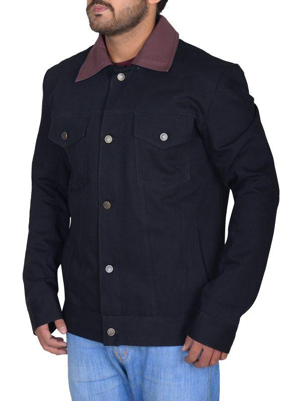 black cotton jacket, black cotton jacket for men,