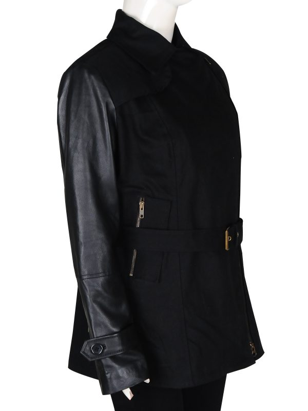 black leather jacket for girls, women leather jacket in black,