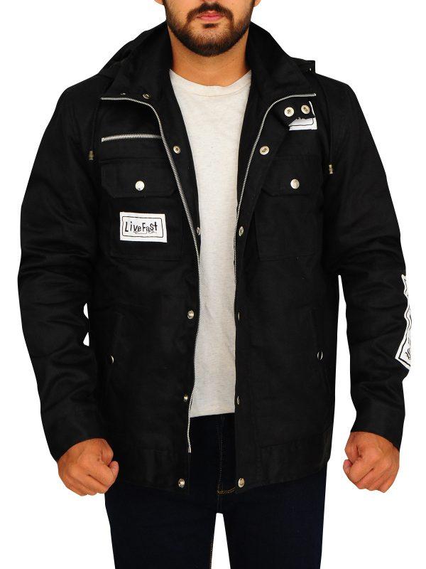goldberg black cotton jacket, wwe wrestler goldberg jacket for men,