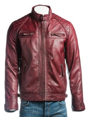 stylish jacket, stylish maroon jacket