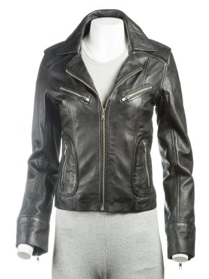 zipper jacket, leather jacket