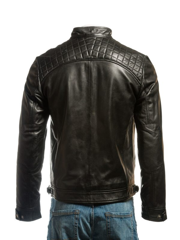 pure leather jacket, col black jacket