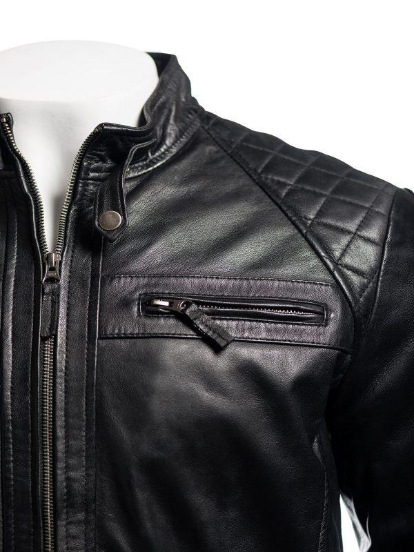 black jacket, leather biker jacket