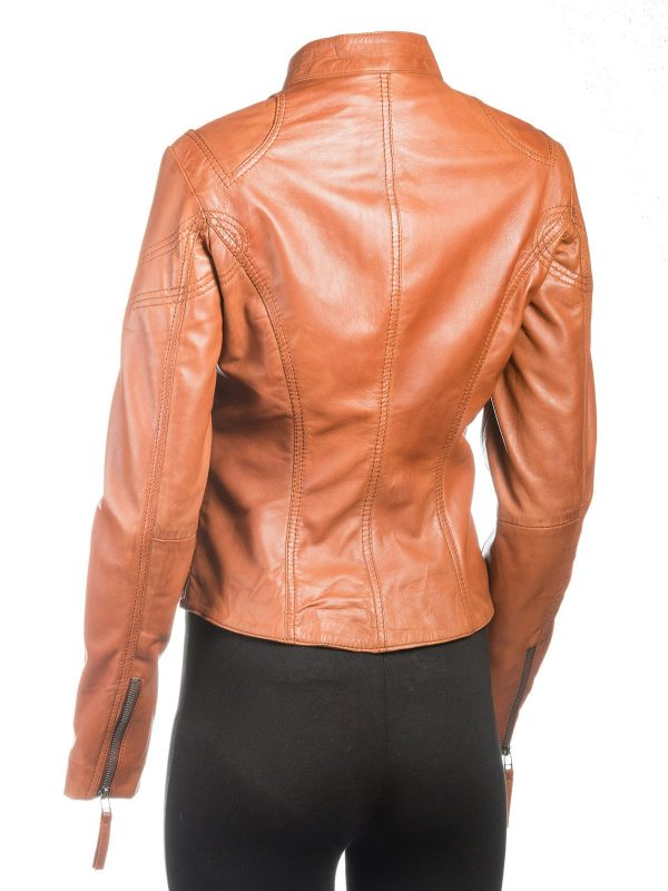 fitted jacket, leather jacket