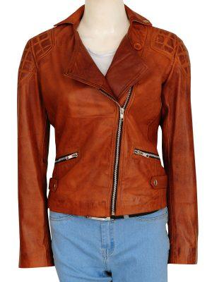retro brown jacket, brown women leather jacket,