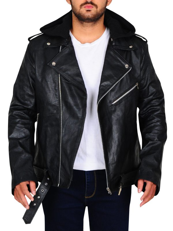 black brando men jacket, brando leather jacket,