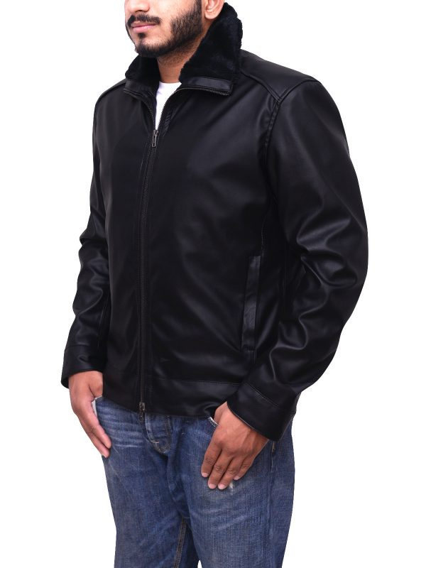 biker black leather jacket, stylish black leather jacket for men,