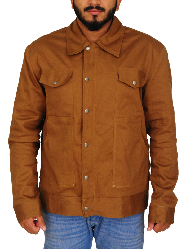 casual brown jacket, casual brown men jacket,