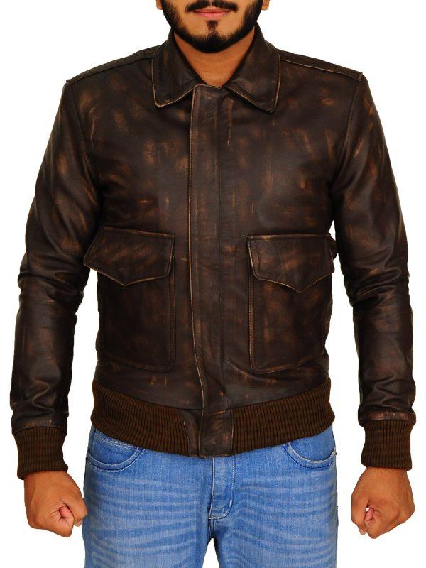 browm men leather jacket, dark brown men leather jacket,