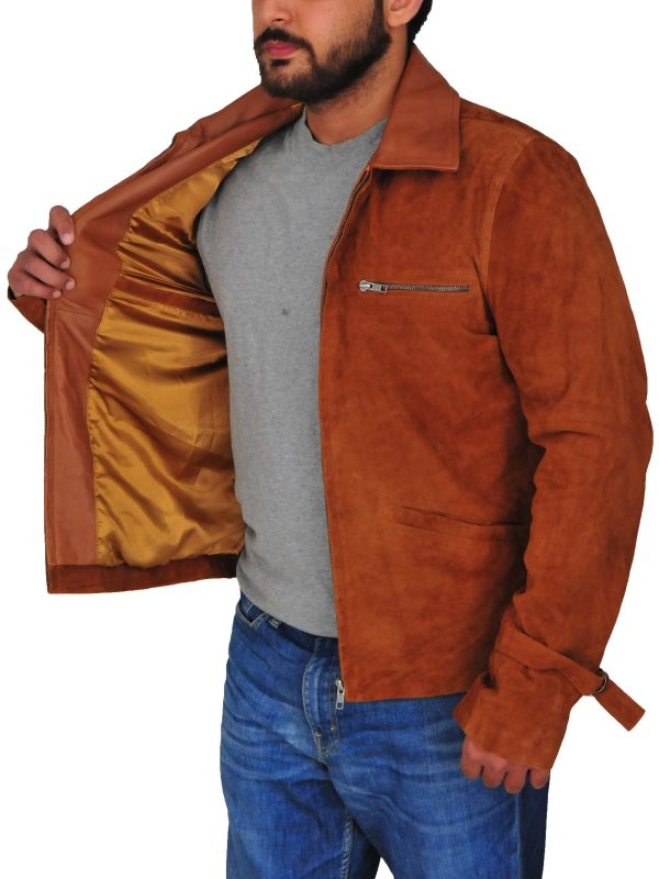 suede leather jacket for men, suede leather jacket,