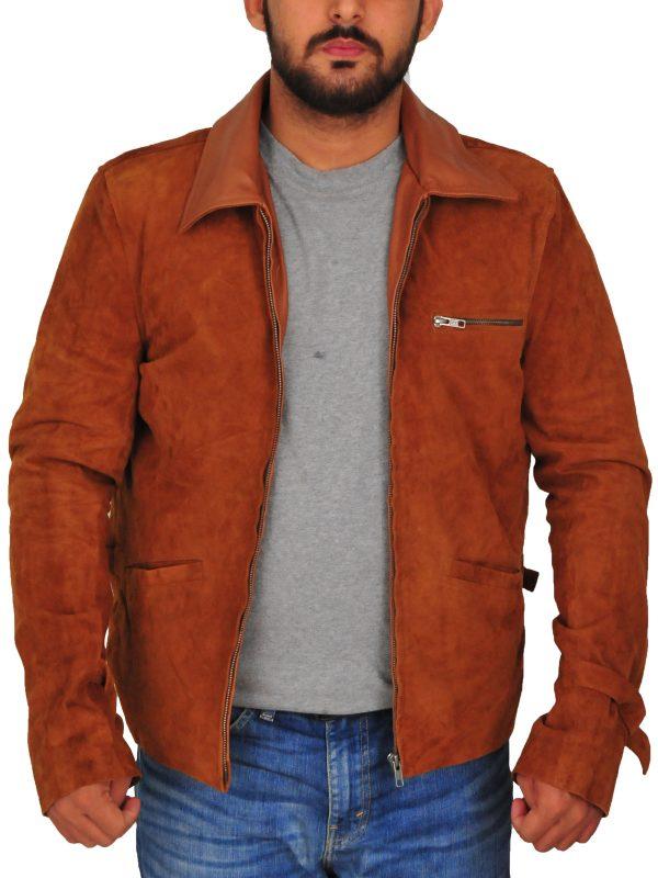 men brown suede leather jacket, brown suede leather jacket,