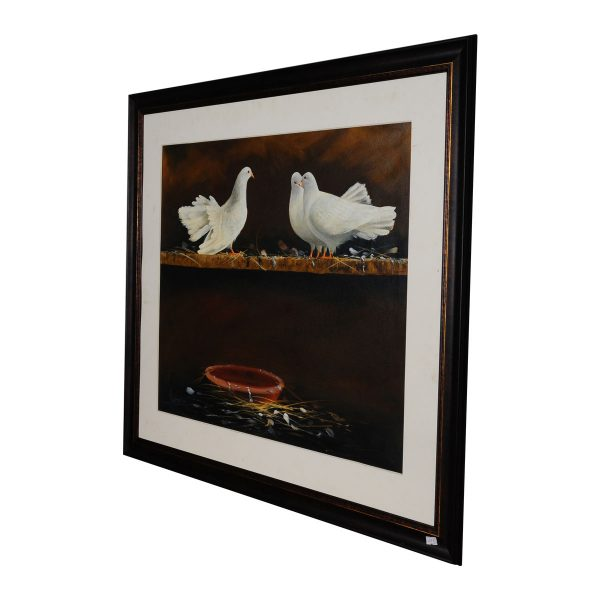 birds oil paiting by artist, birds oil painting for sale,