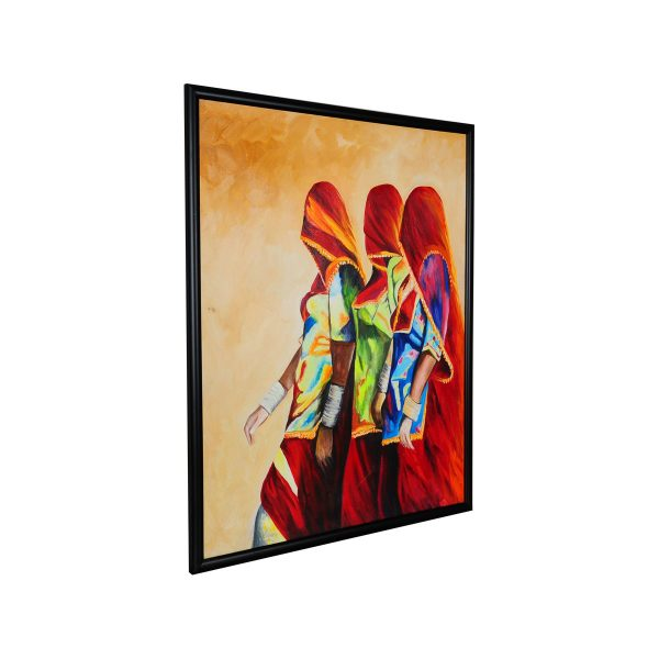 colorful woman oil painting,