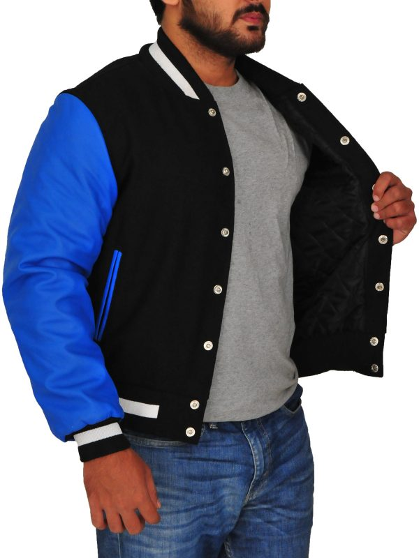 el diablo blue varsity jacket, suicide squad blue jacket,