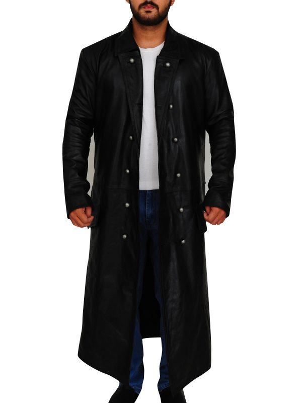trench coat in black, trench coat for men,