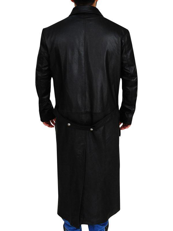 men german trench coat, black german trench coat,