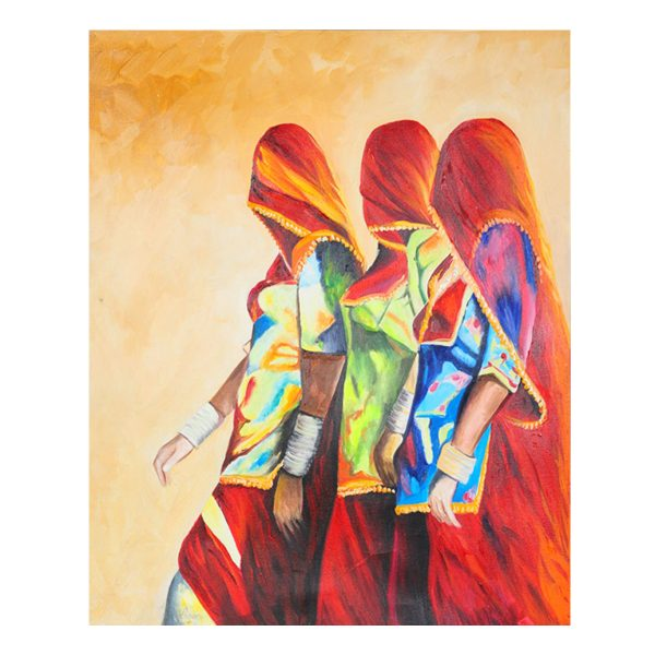 faceless woman oil painting,