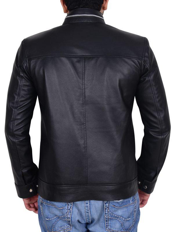 black men leather jacket, black leather jacket,