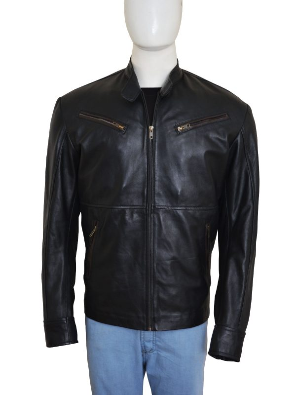 black leather jacket, black leather jacket for men,