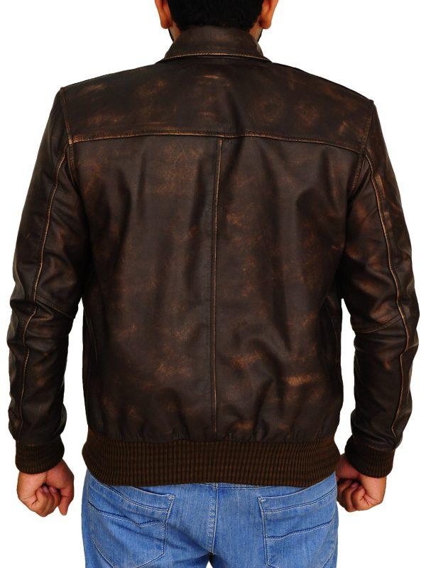 men brown leather jacket, men dark brown leather jacket,