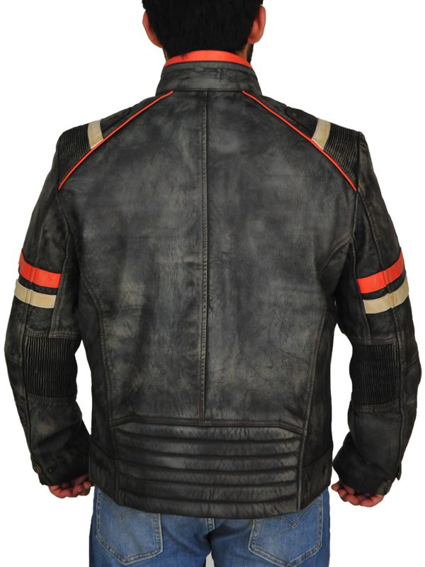 men vintage biker leather jacket, men vintage biker jacket,